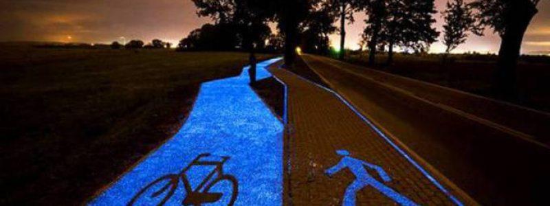 Ciclovia que brilha no escuro diminui uso de eletricidade